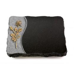 80 Grabplatte Wave/Indisch Black (Bronze Rose 13)